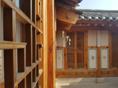 A traditional Hanok house at Bukchon Hanok Village in Seoul