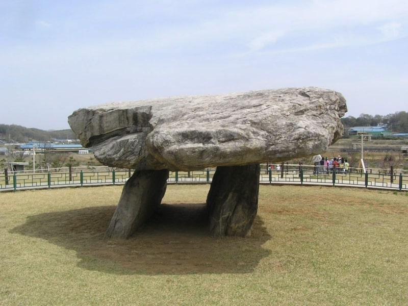 An ancient Korean tomb also known as a Dolmen located at Ganghwa Island