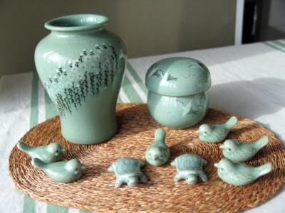 Green colored Icheon style ceramics from Icheon Pottery Village