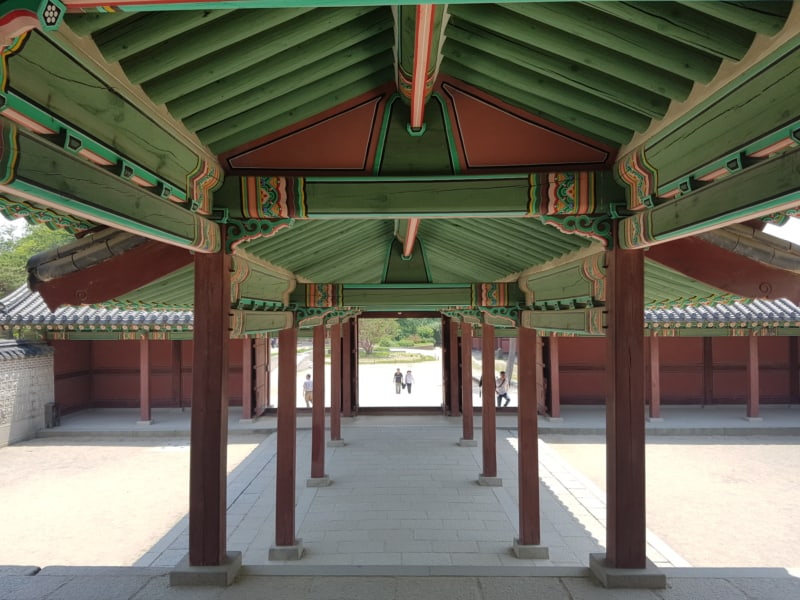 Inside Changdeokgung the main palace in Seoul