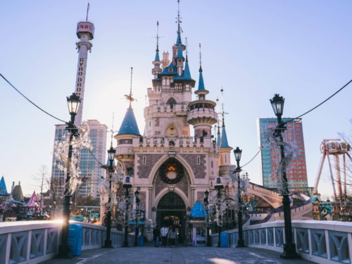 A picture of the Castle at Lotte World Theme Park in Seoul