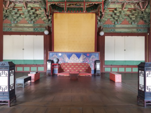 The kings work chamber in Changdeok palace
