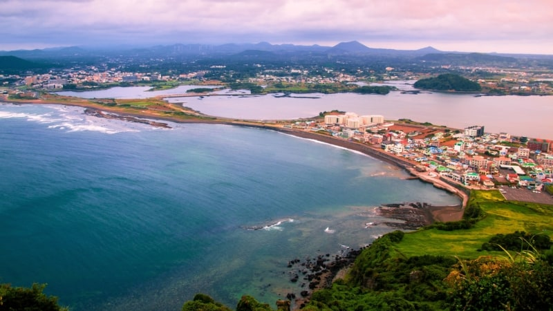 A view from above of where we will stay during ourJeju Island tour