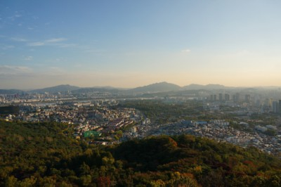 A gorgeous view of the city from Seoul Tower