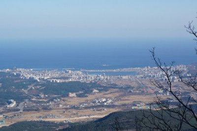 Beautiful views of Sokcho city from Gwongeumseong Fortress