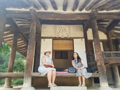 The outside of a traditional Joseon era village house at the Hanguk Minsokchon