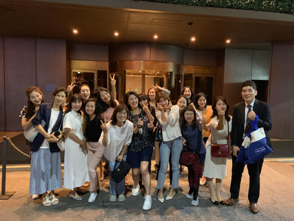 Some of the VIP Tour guides after a company meal