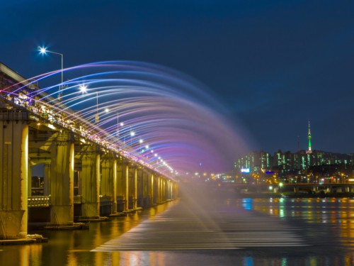 Night view from Banpo bridge
